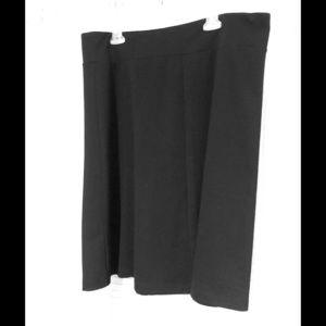Lands End Black Skirt